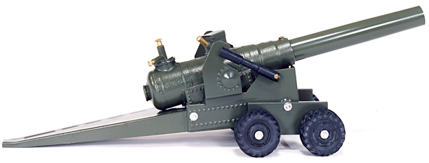 big bang 155mm green military cannon